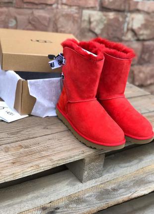 Угги ♥️ugg customizablz bailey bow short red
