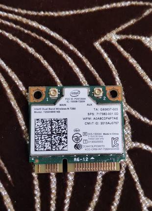 Wi-Fi адаптер для ноутбука Intel 7260HMW 2.4/5 Ghz