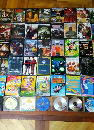 Продам диски, (ігри, фільми, мультфільми).
