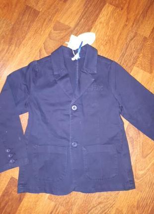 Школьный катоновый пиджак chicco 116