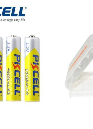 Аккумуляторные батарейки PKCELL Ni-MH AAА 1000 mAh минипальчик