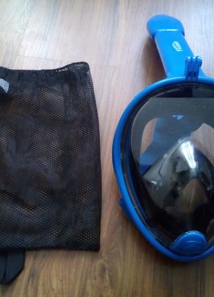 Полнолицевая, маска FLASH для плавания,снорклинга,дайвинга