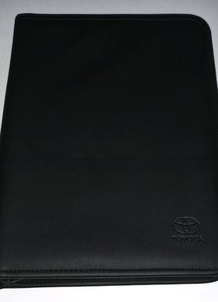 Оригинал кожаная папка сервисной книжки инструкции Toyota Тойота