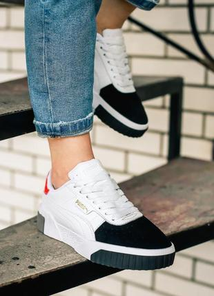 Кроссовки puma cali remix white black pink