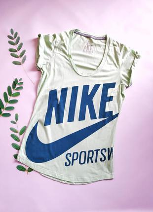 Спортивная футболка nike sportswear big logo большой лого мятная