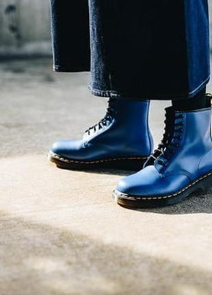 Череаики dr. martens 1460 original smooth blue
