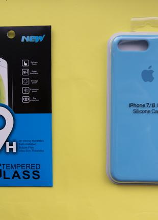 Apple Silicon Case +  Защитное стекло
