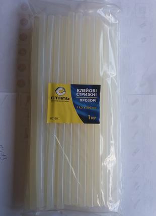 Клеевые стержни СТАЛЬ 11.2 x 300 мм, упаковка 1 кг