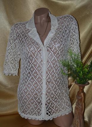 Ажурная , вязаная блуза.
