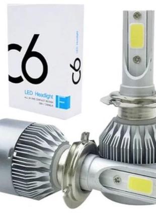 Автомобильные лампы светодиодные LED лампы H4 H7 лед автолампы кс