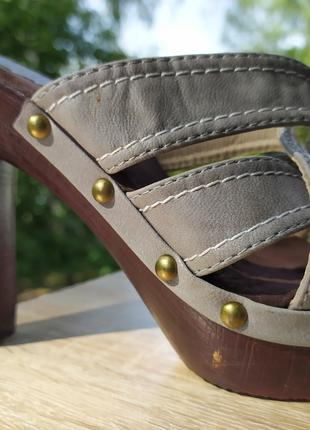 (Сабо) Жіночі шльопанці на каблуку 38 розмір