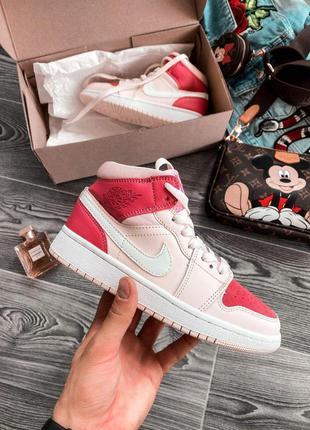 Nike air jordan 1 retro🆕 женские кожаные найк аир джордан ретро🆕