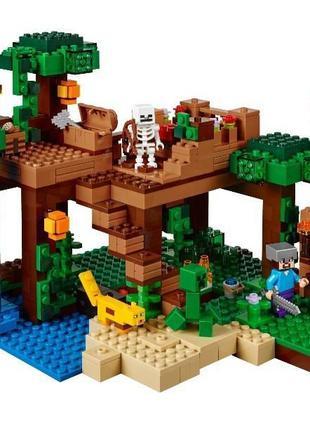 Конструктор 10471 Домик на дереве в джунглях 718 дет