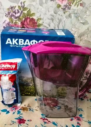 Аквафор Карат фильтр-кувшин + картридж Аквафор В5 (орхидея)