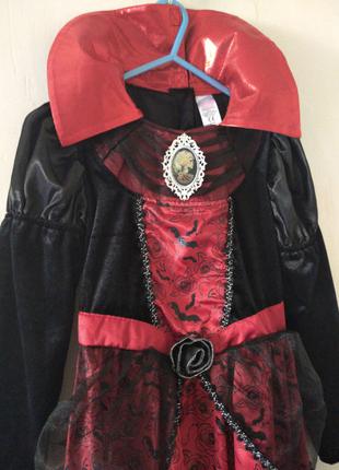 Платье на 9-10 лет  костюм карнавальный Хэллоуин Halloween