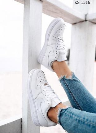 Nike Air Force 1 low (белые)