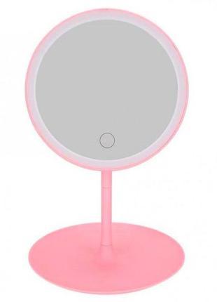 Зеркало для макияжа настольное круглое с led подсветкой nbz на...