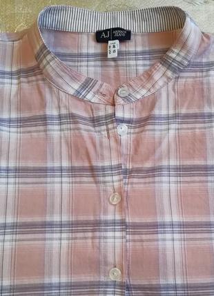 Рубашка женская клетка armani jeans