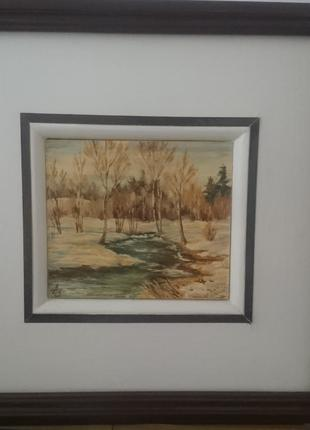 Картина в двох рамках , масло