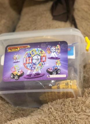 Игрушка конструктор магнитный робот машинка головоломка детская