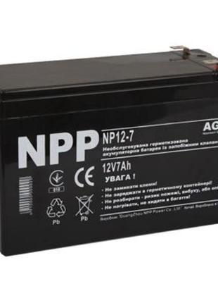 Аккумуляторная батарея NPP 12V 7 AH (NP12-7) AGM