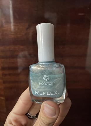 Мнеталик голубой лак для ногтей