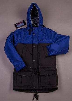 Теплая зимняя куртка мужская парка