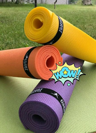 Коврик (каремат) для йоги, фитнеса, танцев