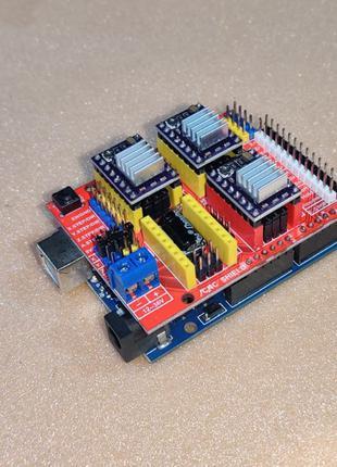 коплект для построения ЧПУ Arduino CNC shield drv8825 1/32