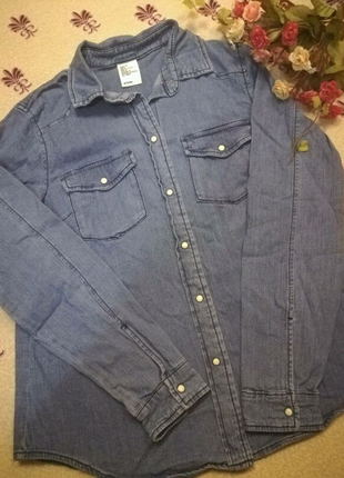 Джинсовая рубашка Denim H&M