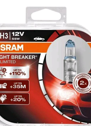 OSRAM 12V H3 55W +110% Night Breaker Unlimited