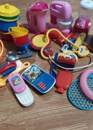 Набор игрушек кухня больница