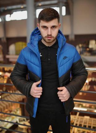 "Зимняя куртка ""two in one"" сине-черный"