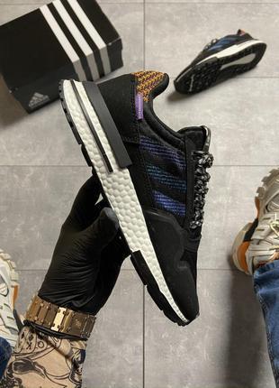 Кроссовки Adidas ZX 500 Black Violet