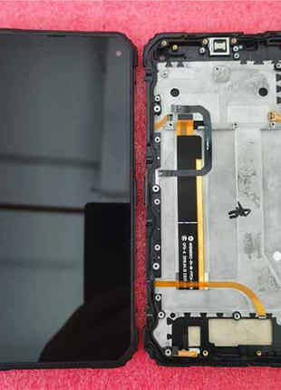 Дисплей в сборе с сенсором и рамкой для Blackview BV6100 оригинал