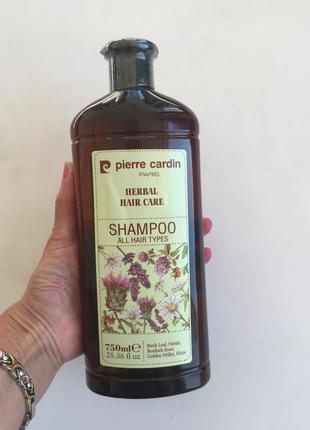 Pierre cardin 750 ml травяной шампунь для всех типов волос