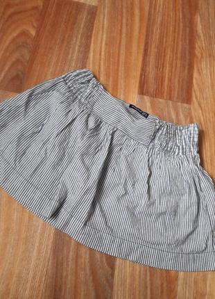 Полосатая юбка, легкая на лето