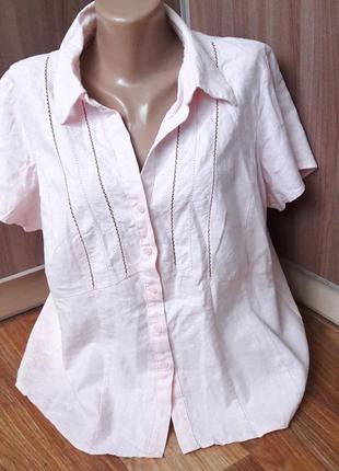Блуза из льна и вискозы на лето самое то!