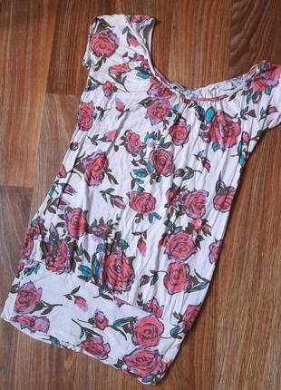 Трикотажное платье с принтом розы