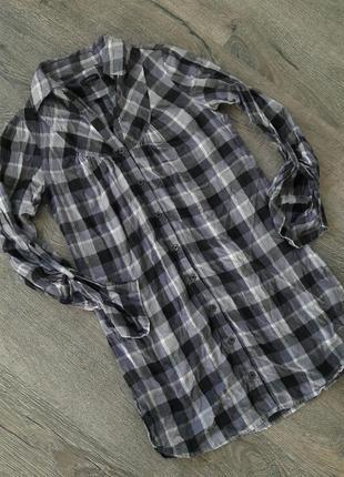 Рубашка-платье в клетку