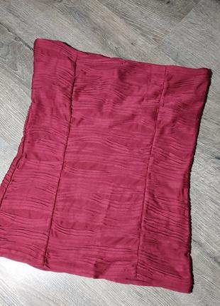 Топ цвета марсал, со вставкой лифа внутри