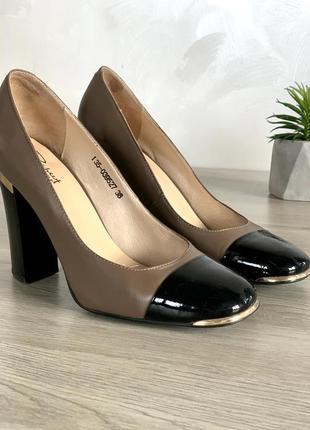 👠 элегантные кожанные туфли respect yourself