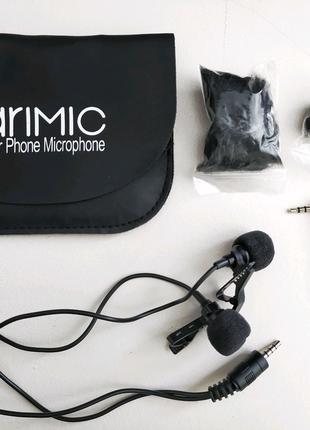 Петличный микрофон Ulanzi Arimic Dual с 2 микрофонами