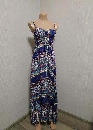 Длинное платье сарафан с открытыми плечами