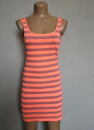 Платье-майка полосатое