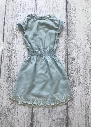 Крутое джинсовое платье сарафан легкий джинс h&m 1,5-2года