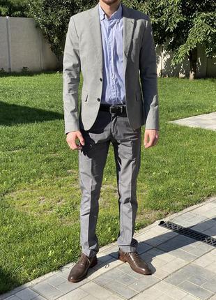 Костюм пиджак брюки рубашка oodji