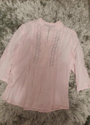 Пудровая блузка рубашка для беременных
