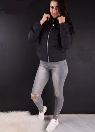 Стильная женская демисезонная куртка, размер l, к001