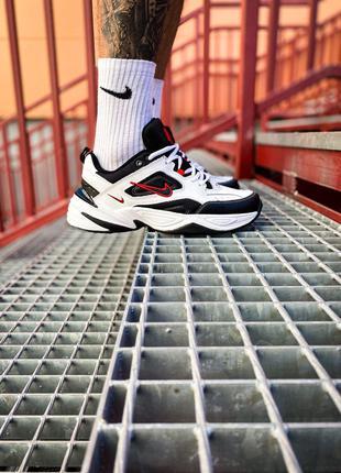 "Кроссовки Nike M2K Tekno ""White/Black/Red"""